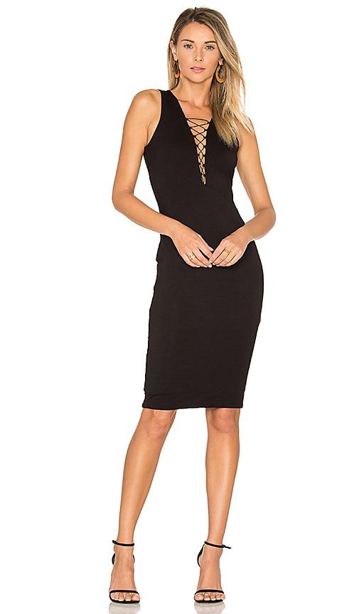 Bardot Strung Out Dress in Black