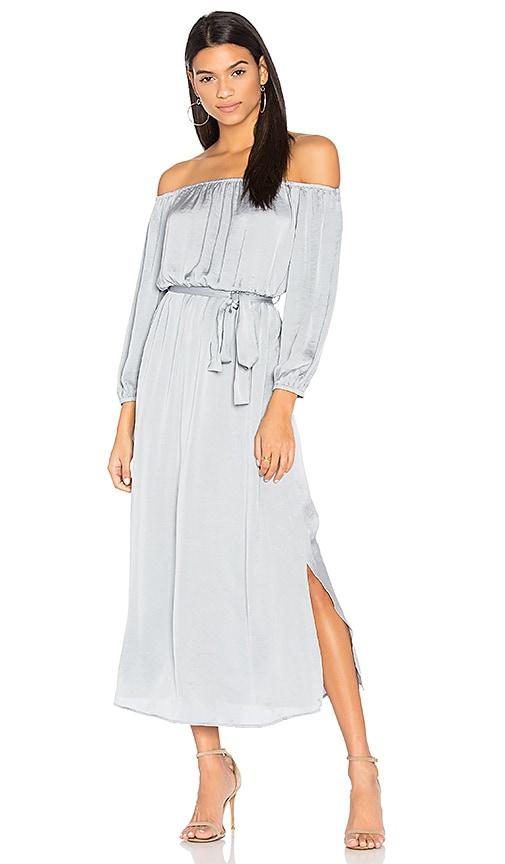 Bardot Off Shoulder Dress in Gray