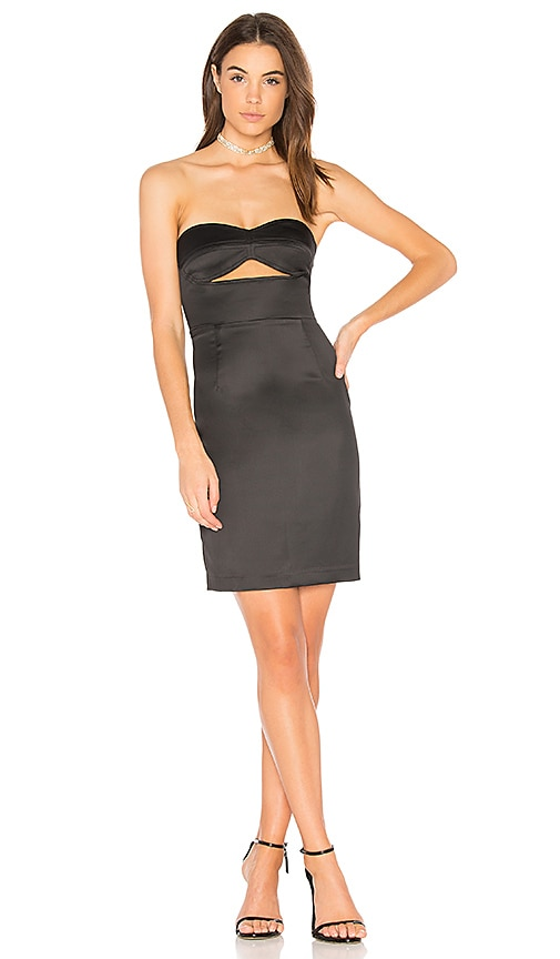 Bardot Strapless Dress in Black