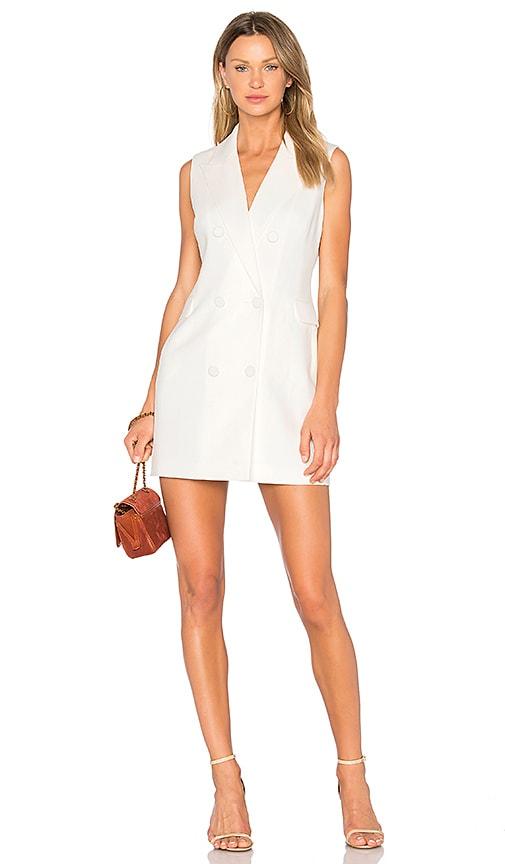Bardot Tailored Blazer Dress in Ivory