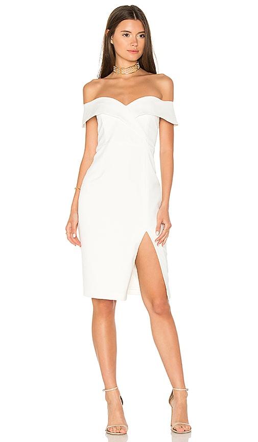 Band Dress in White. - size Aus 8 / US XS (also in Aus 10 / US S,Aus 12 / US M,Aus 14 / US L) Bardot