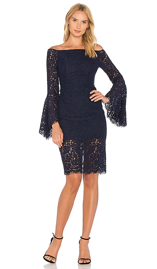 Bardot Solange Lace Dress in Navy