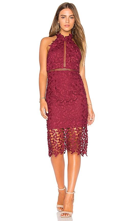Bardot Gemma Dress in Burgundy