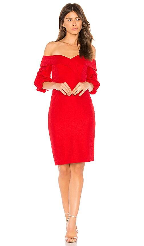 Bardot Devlin Twist Dress in Red