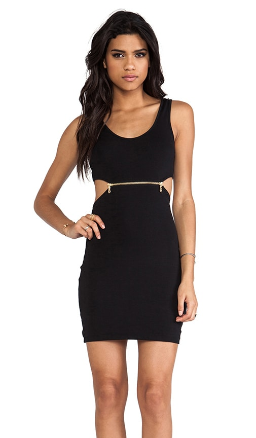 Zipper Cut Out Dress