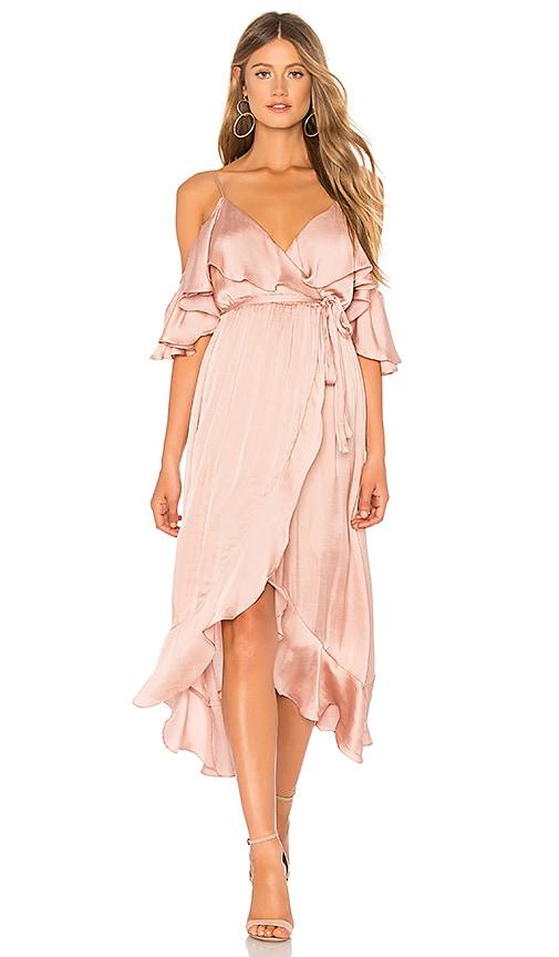 2f2f5fc432 Bardot Bea Wrap Dress in Biscotti