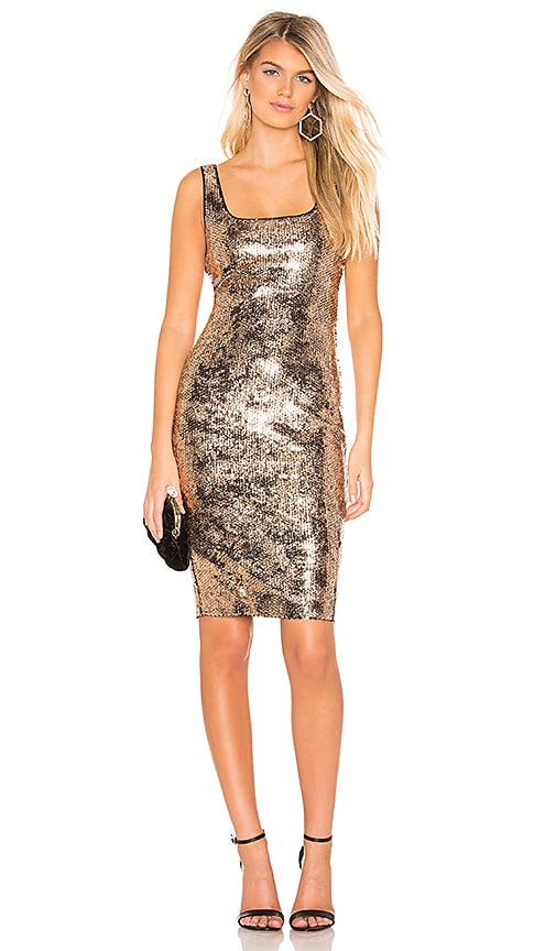 a34bf128b5 Bardot Neve Dress in Gold Foil Sequin