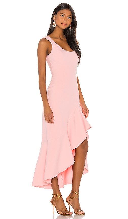 Bardot Esther Frill Dress in Peachy Pink
