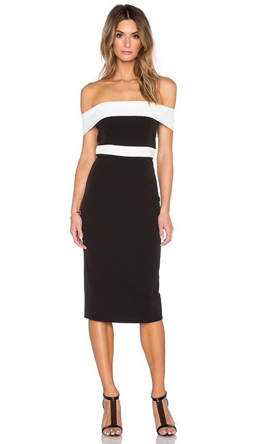 967b8b4eb6dc Bardot Two Tone Midi Dress in Black & Ivory | REVOLVE