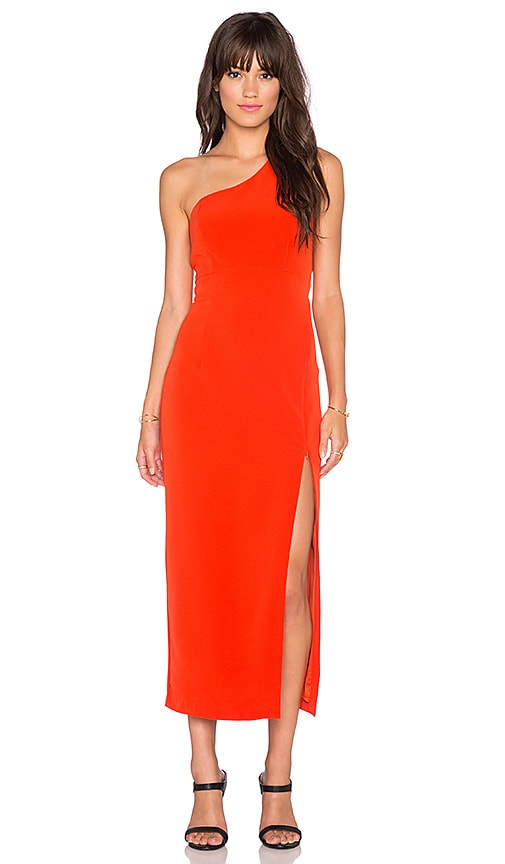 Bardot Kendall Asymmetrical Dress in Chilli