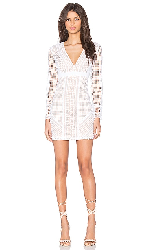 Bardot Lidia Lace Dress in White