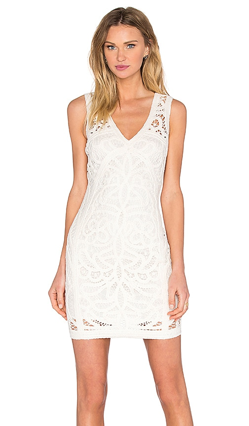 Bardot Gigi Lace Dress in Ivory