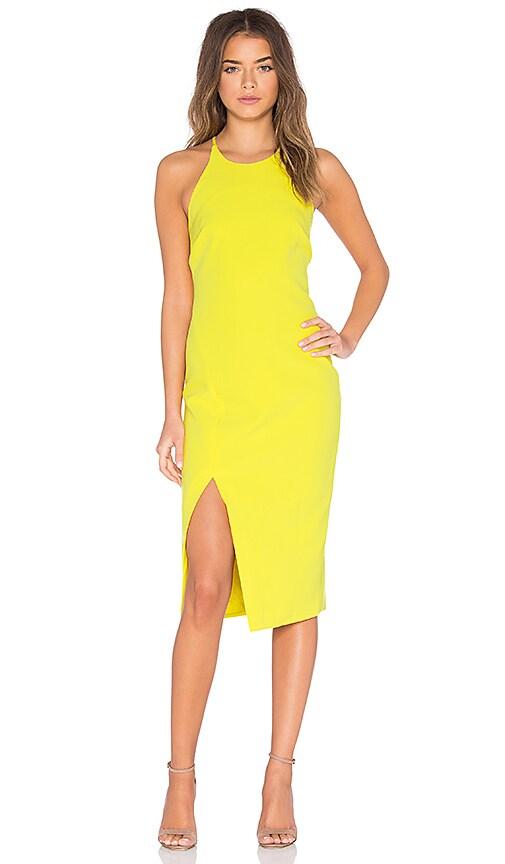 Bardot Cara Asym Dress in Yellow