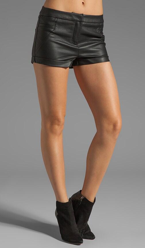Rider Vegan Leather Shorts