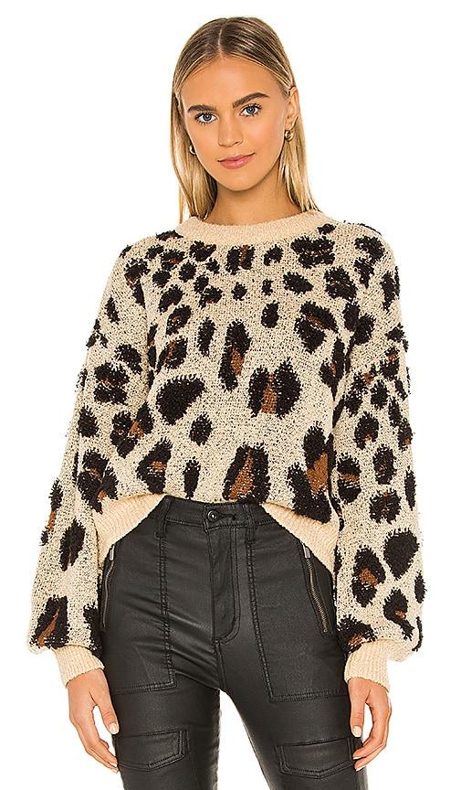 Leopard Slouch Knit