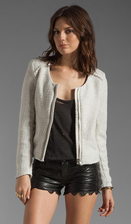 Frayed Boucle Jacket