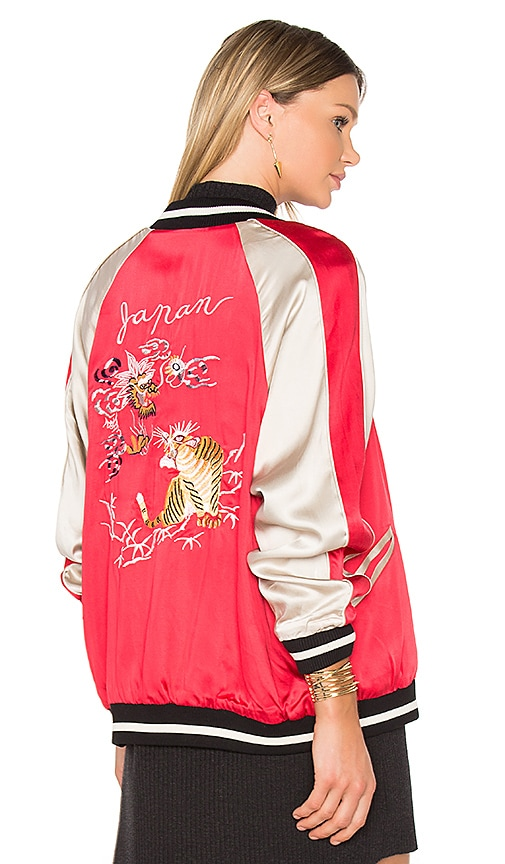 Bardot Reversible Beau Bomber in Red