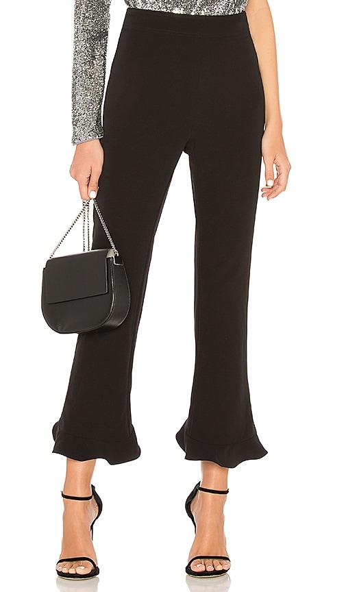 Bardot Frill Hem Pant in Black