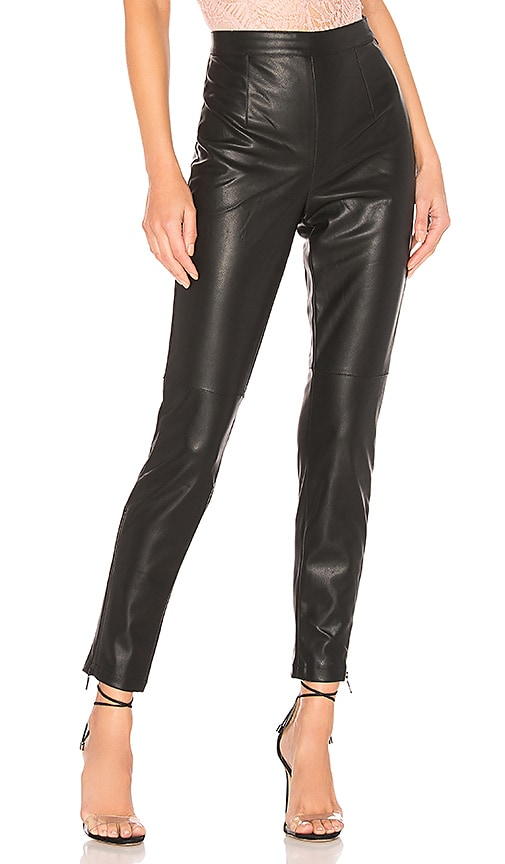 Faux Leather Tailored Pant