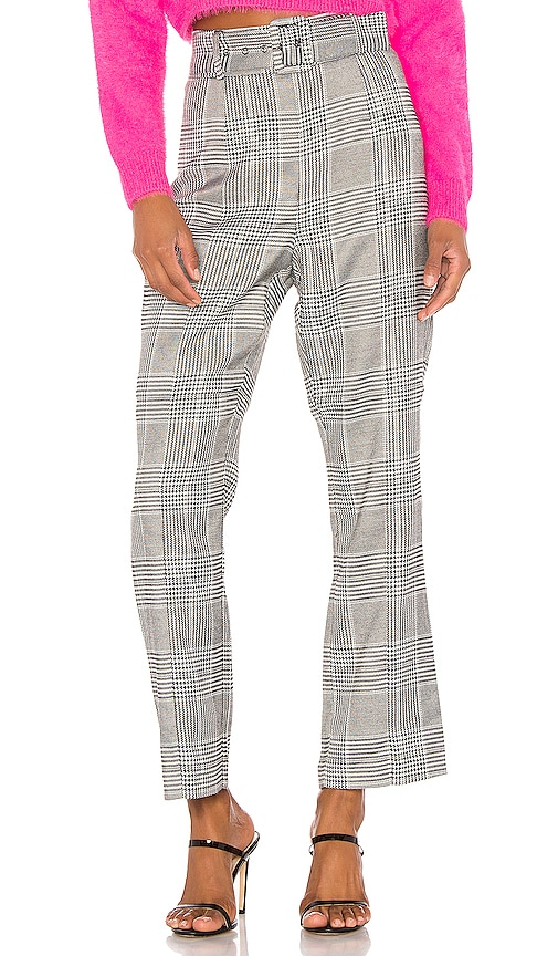 Belted Check Pant