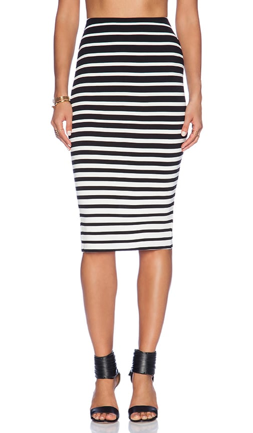 Graduated Stripe Skirt
