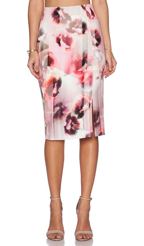 Bardot Blossum Split Skirt in Multi