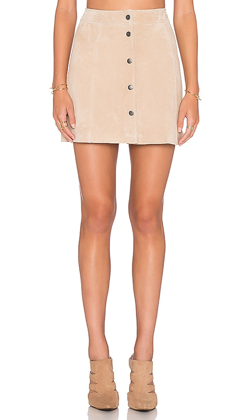 Bardot Blondie Suede Skirt in Beige