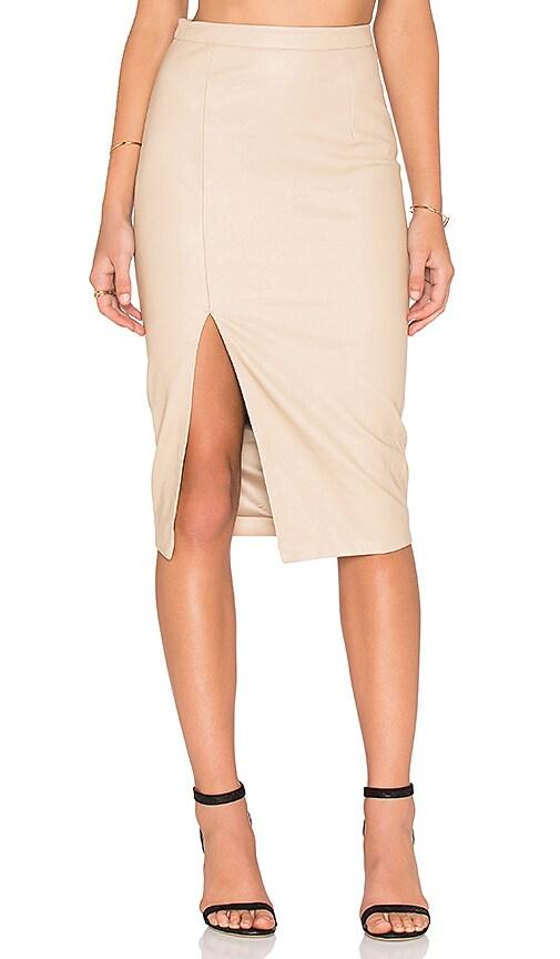 Bardot Khloe PU Skirt in Tan