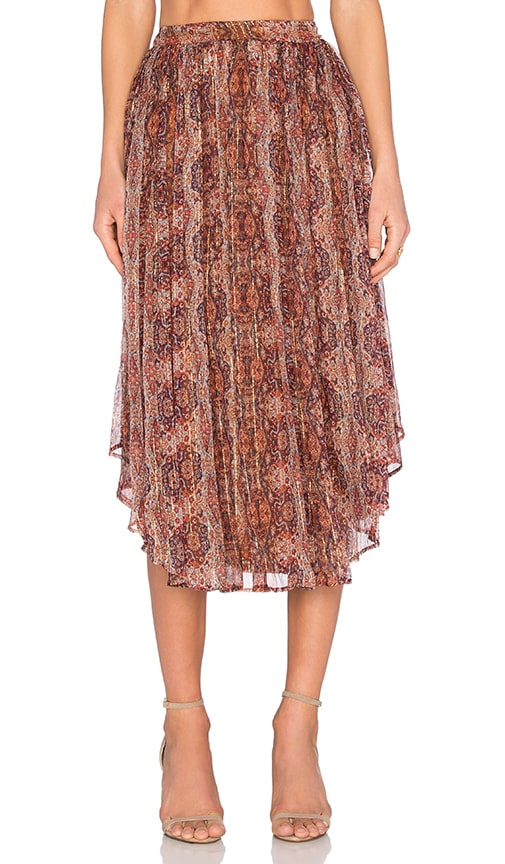 Bardot Moroccan Tile Skirt in Red