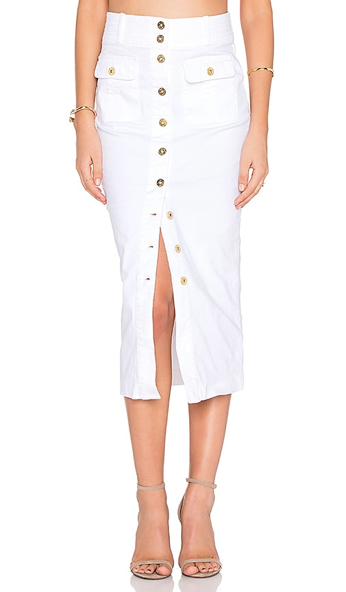 Bardot Cooper Midi Skirt in White