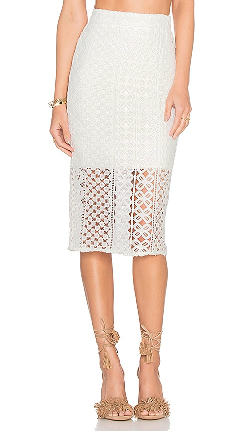 Bardot Calista Lace Skirt in White