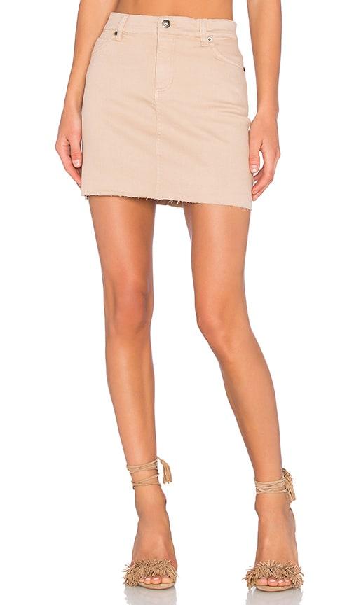 Bardot Tusk Mini Skirt in Beige