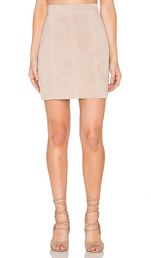 Bardot Pebble Suede Mini Skirt in Gray