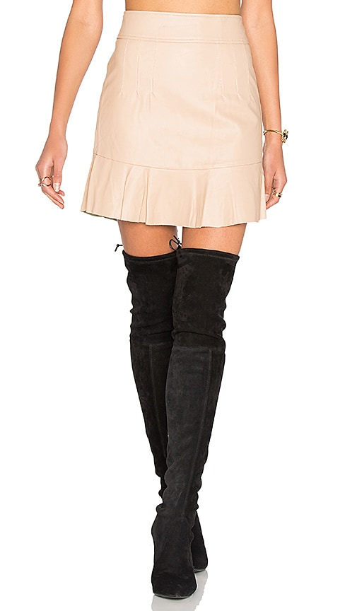 Bardot Frayer Skirt in Blush