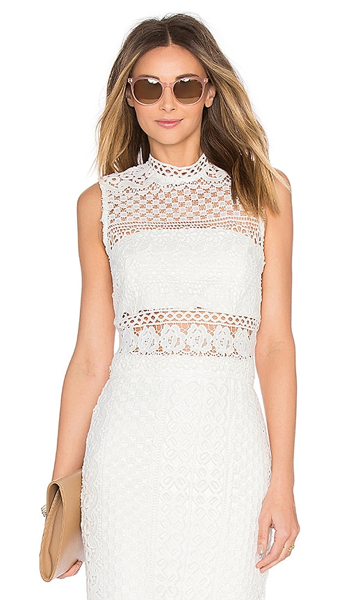 Bardot Calista Lace Top in White