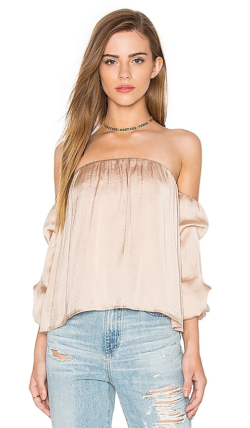 Caught Sleeve Bustier Top