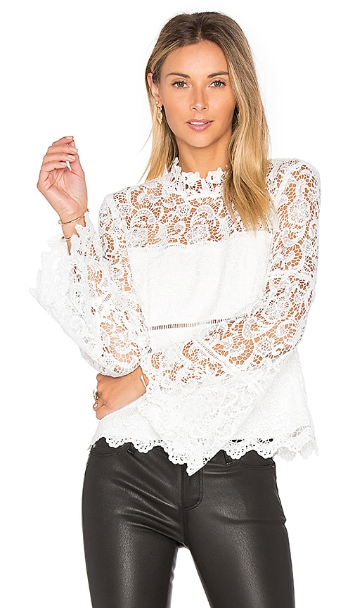 Bardot x REVOLVE Sansa Lace Top in White