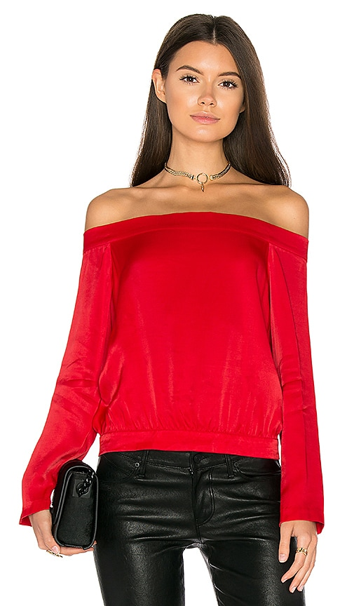 Bardot Paige Top in Red