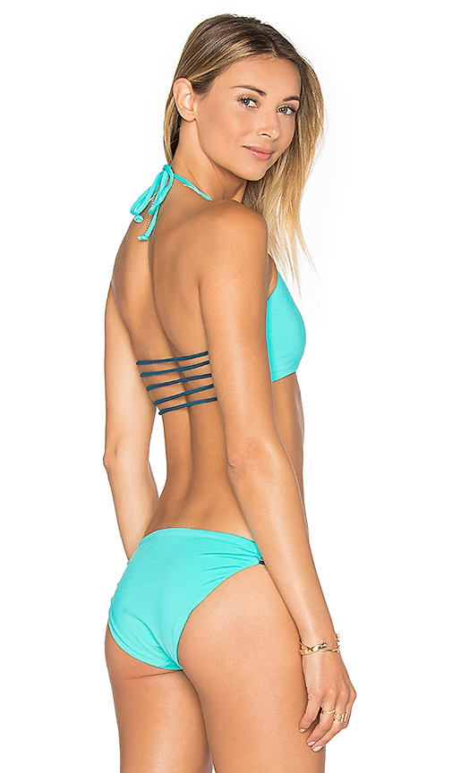 Basta Surf Zunzal Reversible Bikini Top in Turquoise