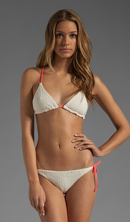 Raglan Reversible Crochet Lined Bikini Top