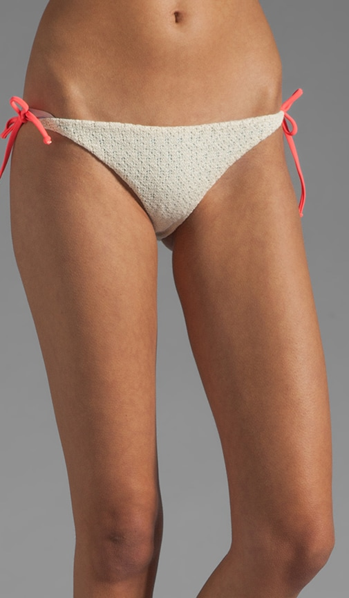 Raglan Reversible Crochet Line Bikini Bottom