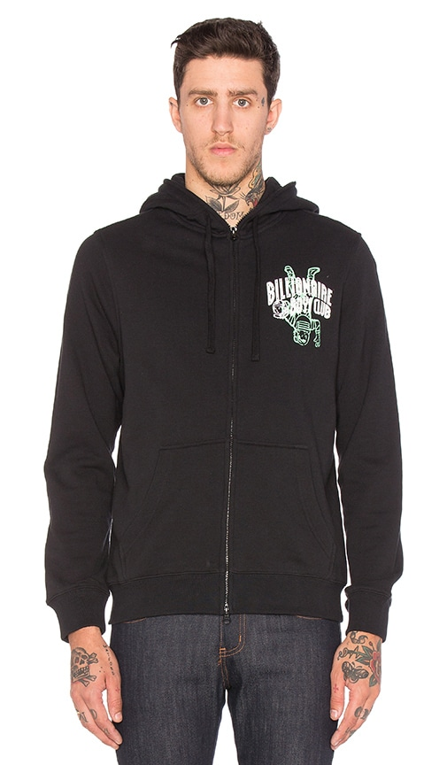 Billionaire Boys Club Full Zip Knit Hoodie in Black
