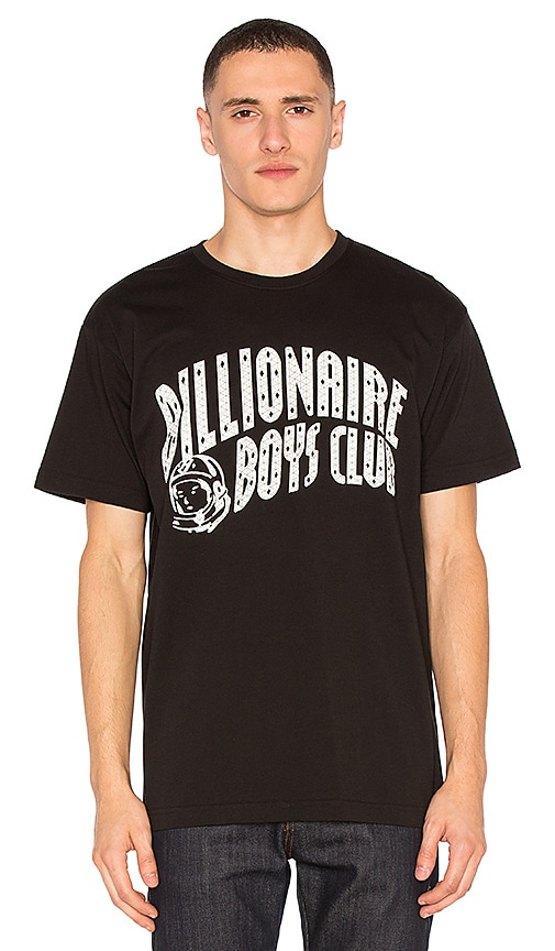 Billionaire Boys Club Arch Logo Reflective Ski Grid Tee in Black