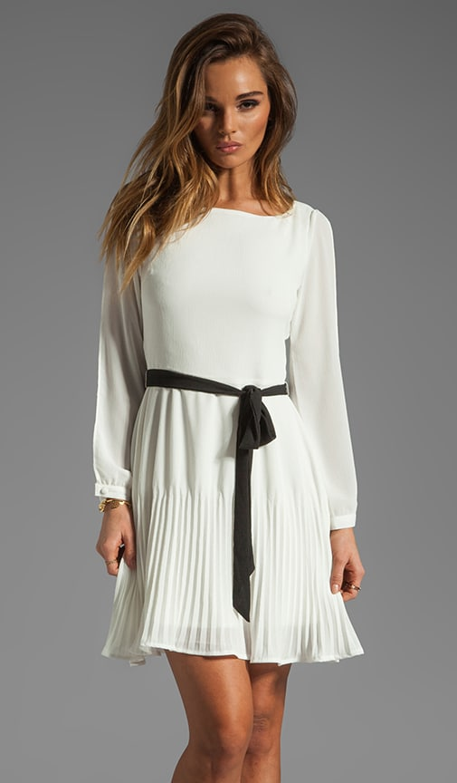 Fareeda Split Sleeve High Crinkle Chiffon Dress