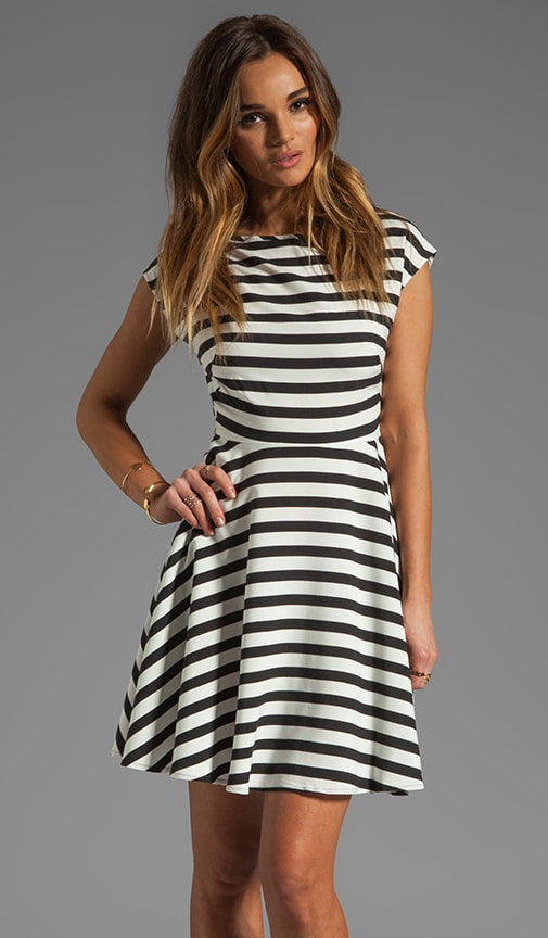Zamora Stripe Rayon Dress