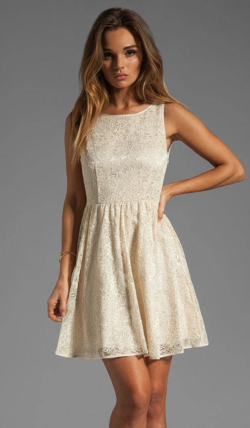 Azura Pleated Lace Dress