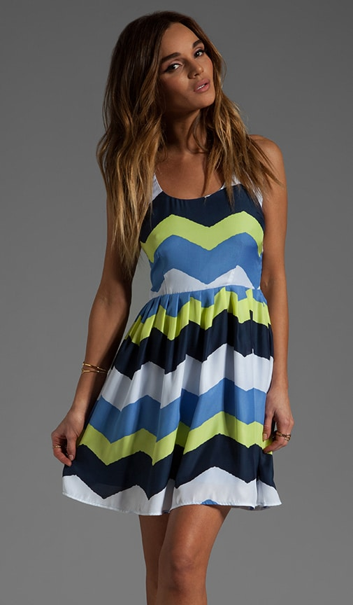 Maggie Painted Zig Zag Printed Dress
