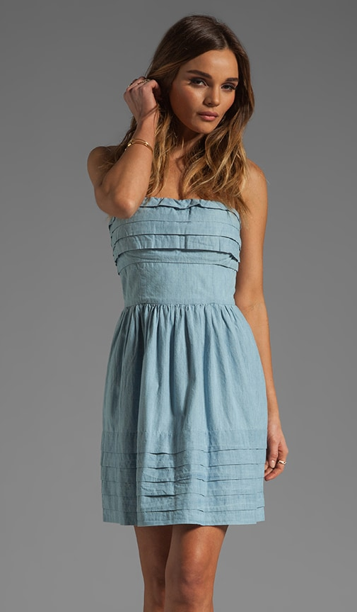 Emiley Cotton Chambray Dress
