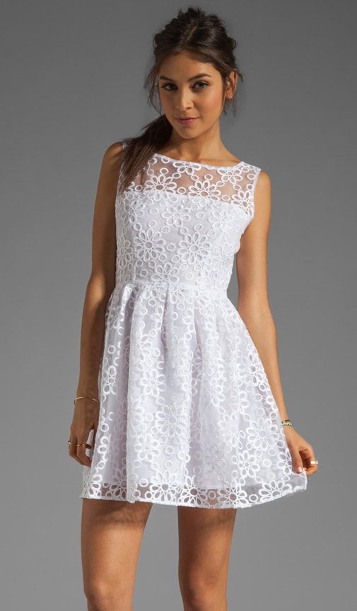 Huela Organza Embroidered Dress