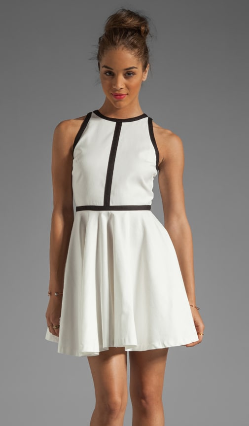 Jamila Palio Linen Contrast Trim Dress